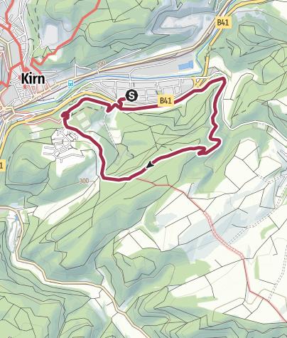 Karte / Kirn K8 / Über die Römerstraße, dann um den neuen Wald