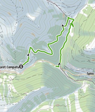 Karte / Samnaun-Compatsch - Spissermühle