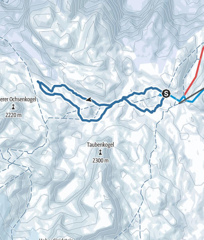 Map / From Gjaidalm (1738 m) to Wiesberghaus (1881 m)