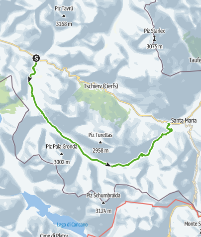 Karte / Val Mora – Ein Gefühl der kanadischen Wildnis.