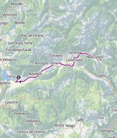 Cartina / eBike - Lungo la Via Claudia Augusta