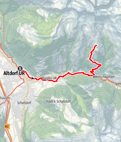 Karte / 55.05 Altdorf - Biel-Chinzig, ViaSuworow