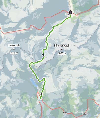 Karte / 55.10 Elm - Pigniu, ViaSuworow