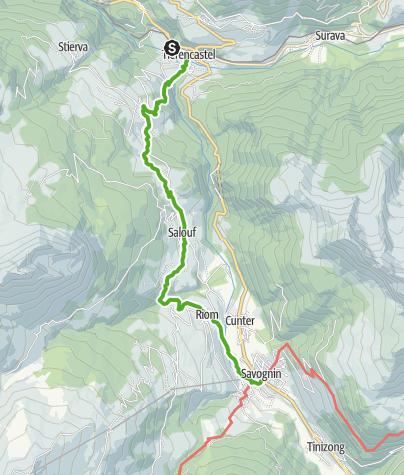 Kaart / 64.02 Tiefencastel - Savognin, ViaSett
