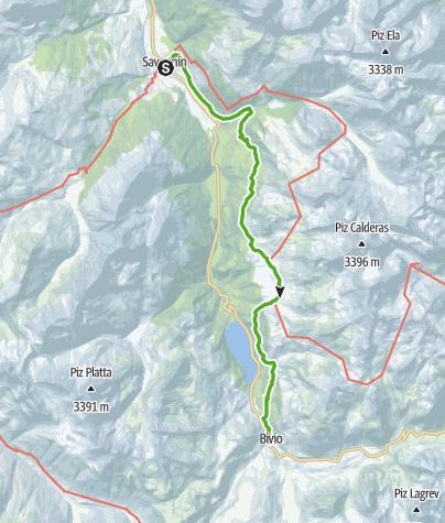 Karte / 64.04 Savognin - Bivio, ViaSett