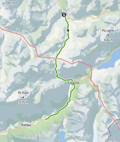 Karte / 64.05 Bivio - Vicosoprano, ViaSett
