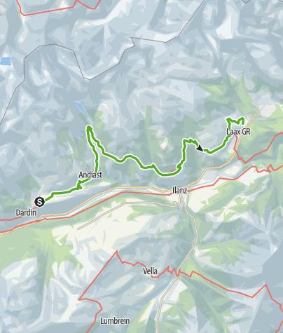 Map / 85.04 Breil/Brigels - Laax, Senda Sursilvana