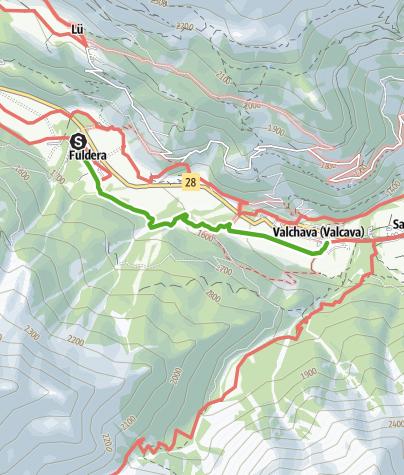 Karte / Bärenthemenweg «senda da l'uors» bei Fuldera