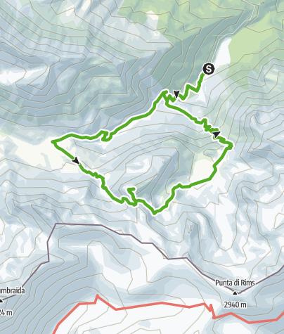 Karte / Sta.Maria, Prà da Vau - Lai da Rims - Alp Sot - Prà da Vau