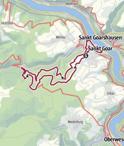 Map / St. Goar - Burgweg