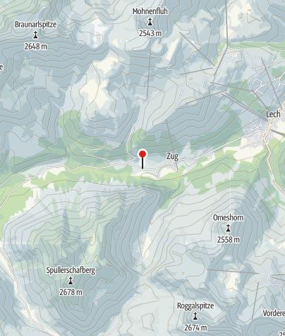 Karte / Haltestelle Orts- und Wanderbus Lech