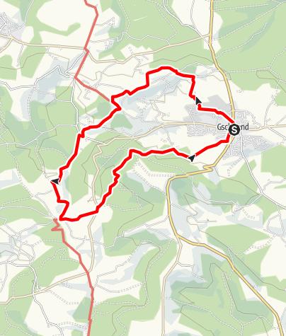 Karte / Idyllische Straße Tour F / Gschwend - Weites Land und historische Mühlen