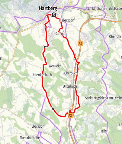 Karte / Hartbergerland Drahteseltour
