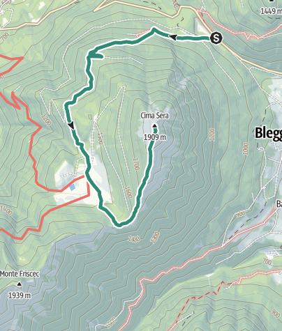 Cartina / Malga Stabio e Cima Sèra