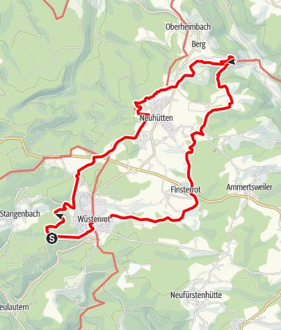 Karte / Idyllische Straße Tour R / Wüstenrot - Wüstenroter Endeckungstour