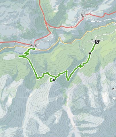 Karte / Tarasp Fontana - Crap Putèr - Ardez