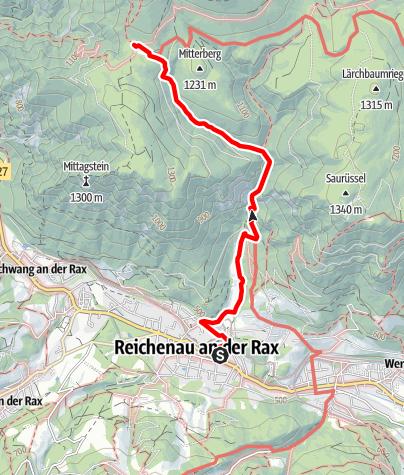 Mapa / Vom Kurpark Reichenau über den Thalhof auf die Knofeleben