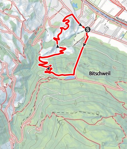 Karte / Aquastiege Tschagguns