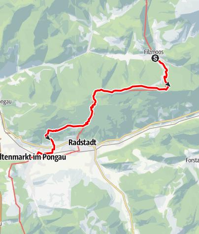 Map / Wanderbus-Tipp: Filzmoos - Rossbrand - Altenmarkt