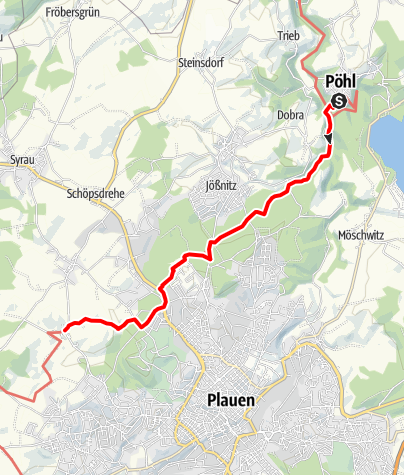 Karte / Vogtland Panorama Weg® - Etappe 2