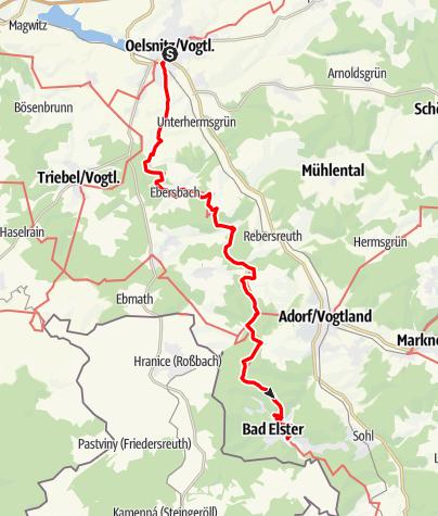 Map / Vogtland Panorama Weg® - Etappe 4