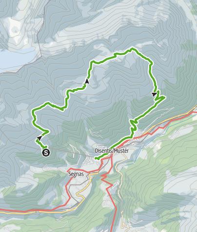 Karte / Seenwanderung, Lag Serein,Lag Crest Ault, Lag Brit