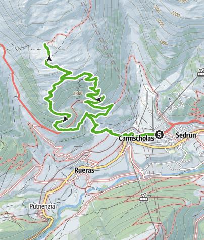 Map / Zur Hexenplatte, Platta dil Barlot