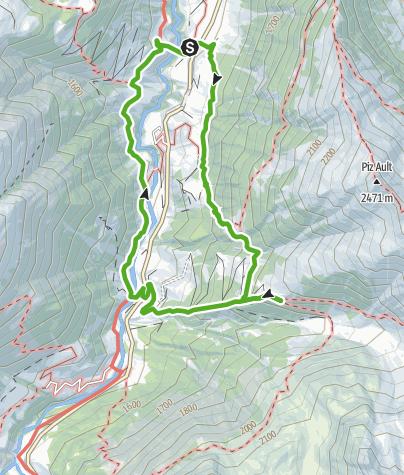 Karte / Ziegenalp Alp Puzzetta