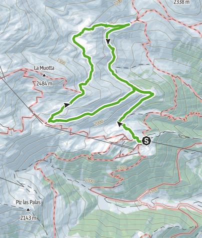 Karte / Rundwanderung Lag Serein bei Caischavedra