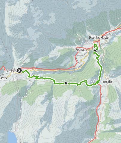 Kaart / Sedrun - Stagias - Disentis