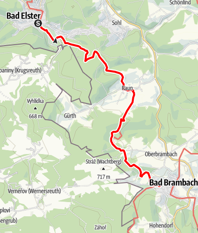 Karte / Vogtland Panorama Weg® - Etappe 5