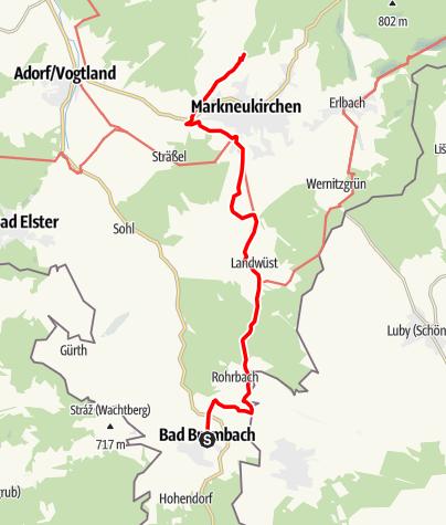 Karte / Vogtland Panorama Weg® - Etappe 7