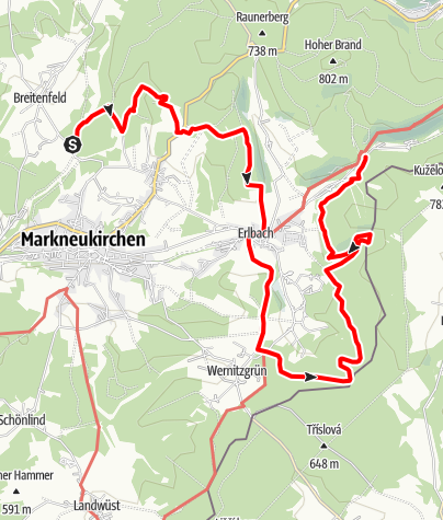 Karte / Vogtland Panorama Weg® - Etappe 8