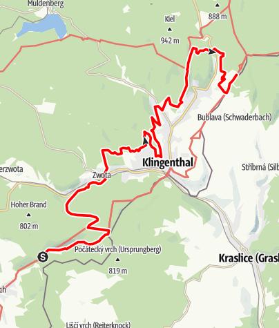 Map / Vogtland Panorama Weg® - Etappe 9
