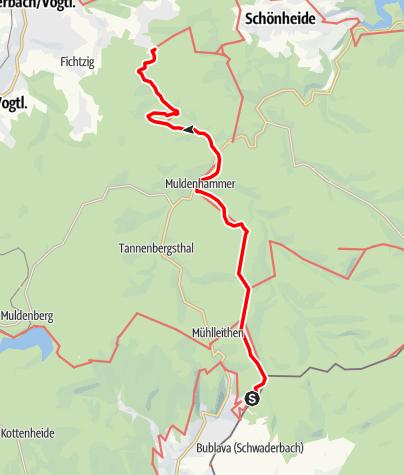 Karte / Vogtland Panorama Weg® - Etappe 10
