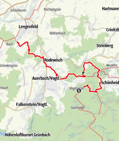 Karte / Vogtland Panorama Weg® - Etappe 11