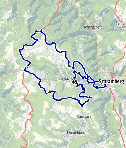 """Karte / Lauterbacher Wandersteig - """"Qualitätsweg Wanderbares Deutschland"""""""
