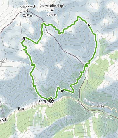 Karte / Fliesseralpe und Alp Bella