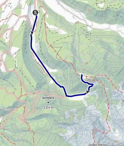 Karte / Zur Gowilalmhütte