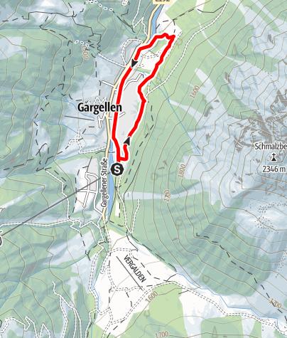 Map / Nordic Walking Strecke Dorfrunde Gargellen
