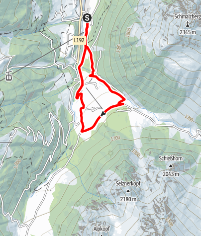 Kaart / Nordic Walking Strecke Vergalden Schleife