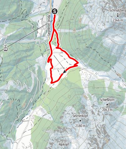 Map / Nordic Walking Strecke Vergalden Schleife