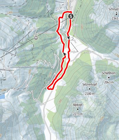 Kaart / Nordic Walking Strecke Valzifenz Lauf