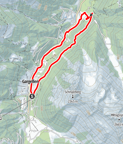 Map / Nordic Walking Strecke Suggadin Tour