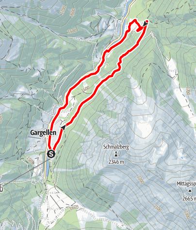 Map / Nordic Walking Strecke Suggadin Tour