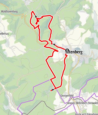 Karte / Entlang der Sportstätten-Bike-Tour
