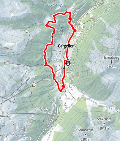Map / Nordic Walking Strecke Röbi-Rüti Route