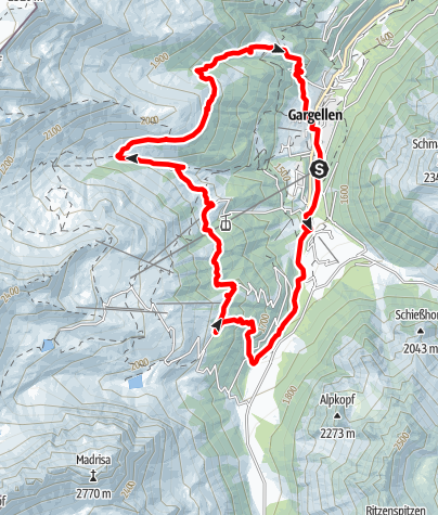 Map / Nordic Walking Strecke Alpen Runde