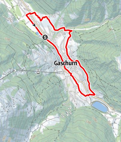 Map / Nordic Walking Strecke Ortsrunde Gaschurn