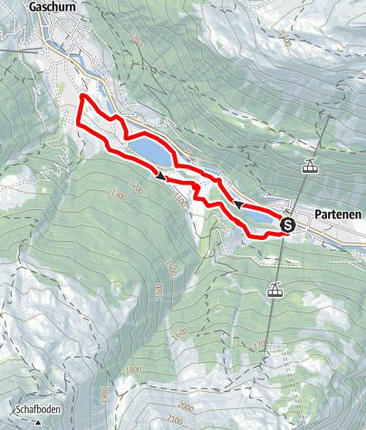 Karte / Harzawald Trail Partenen